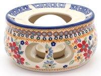 Stövchen groß mit Teelichthalter O15 cm + Teelöffel